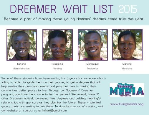 Dreamer Wait List 2015